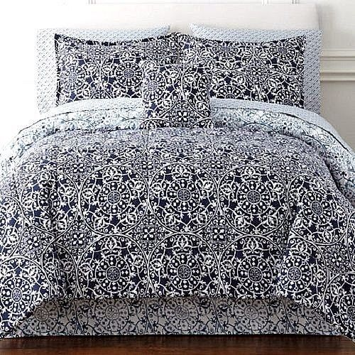 Home Expressions Montage Reversible 8 Pc Bedding Set W