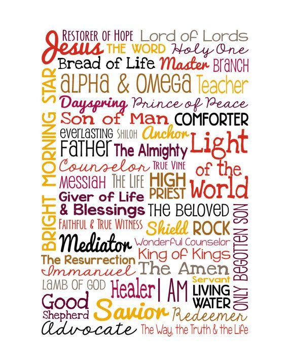 Les Noms De Dieu Names Of Jesus Names Of God Attributes Of God