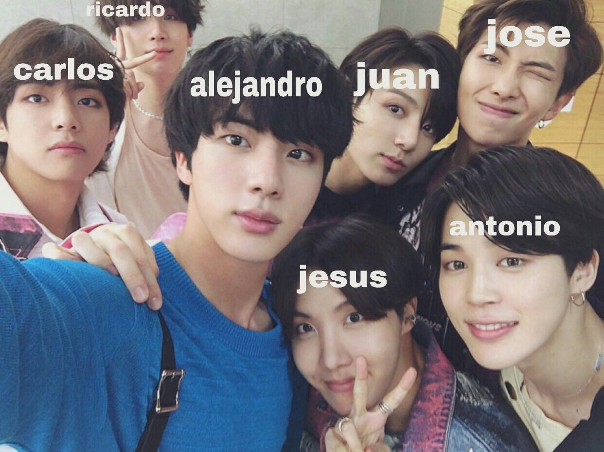 Lmao I M Not Even Mexican Soanish But This Is Funny Bts Memes Bts Funny Pretty Kids