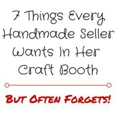 7 Things Every Handmade Seller Wants In Her Craft Booth But Often Forgets | Craft Maker Pro | Inventory and Pricing Craft Software #craftsaleitems
