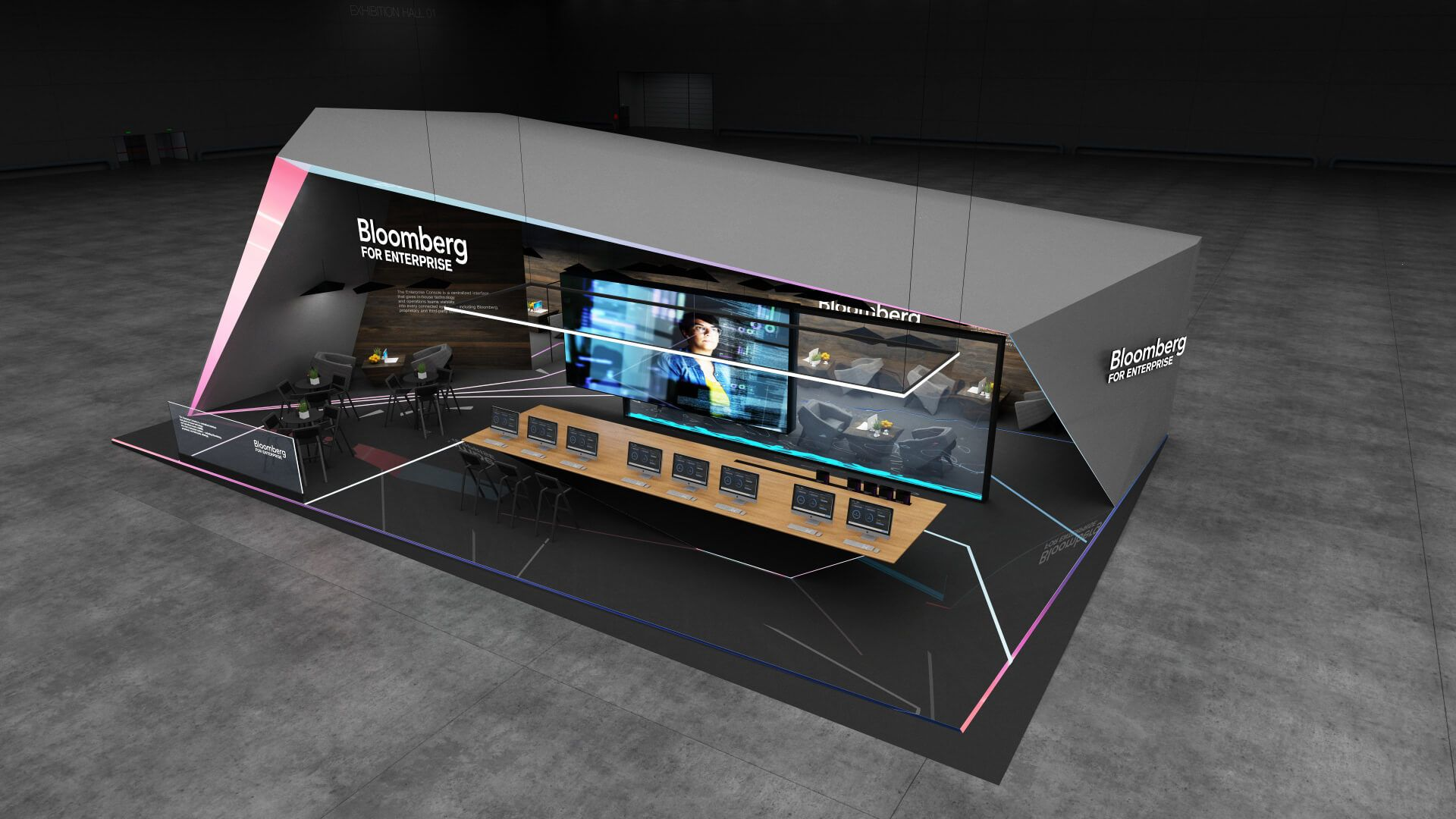 Gm Exhibition Stand Design : Bloomberg exhibition booth design concept gm stand design