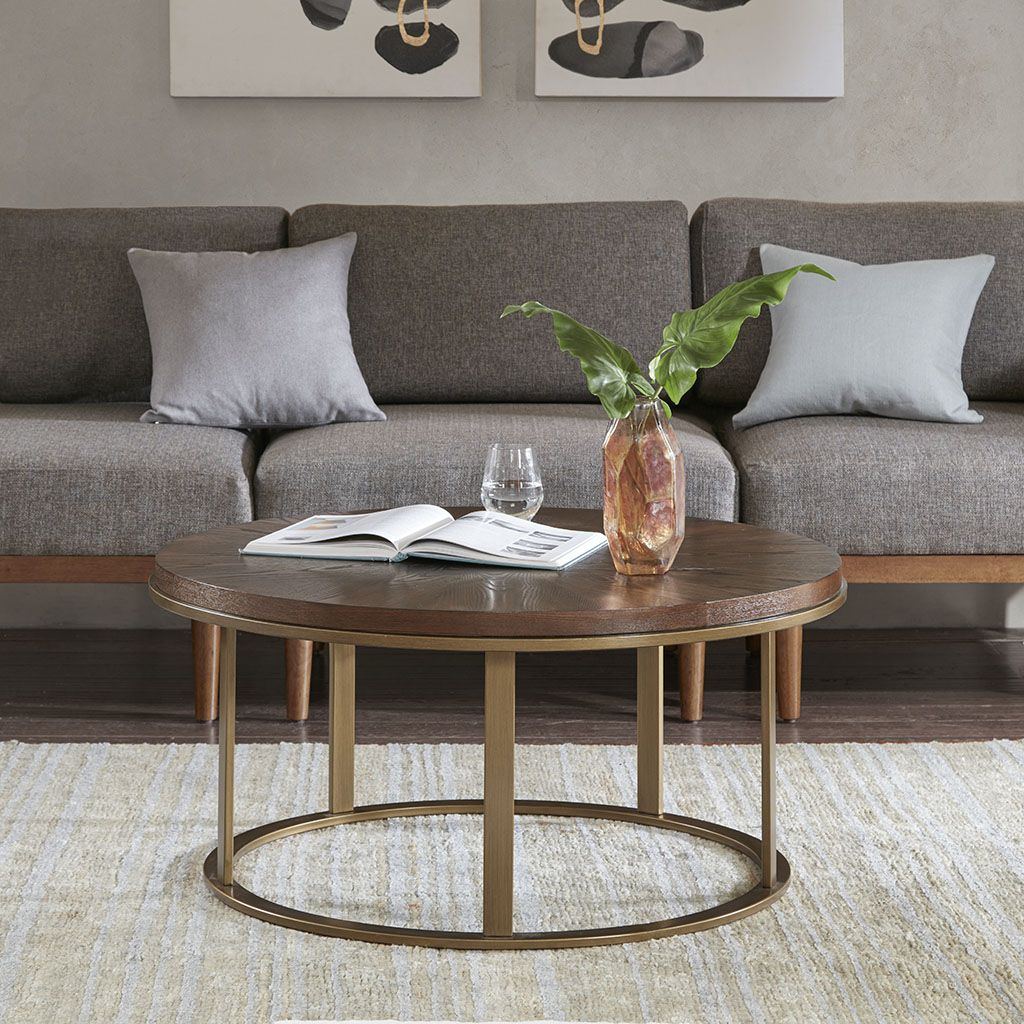 Transform Your Home With The Refined Style Of Ink Ivy S Stephan Coffee Table This Round Coffee Table F Coffee Table Coffee Tables For Sale Wood Cocktail Table [ 1024 x 1024 Pixel ]