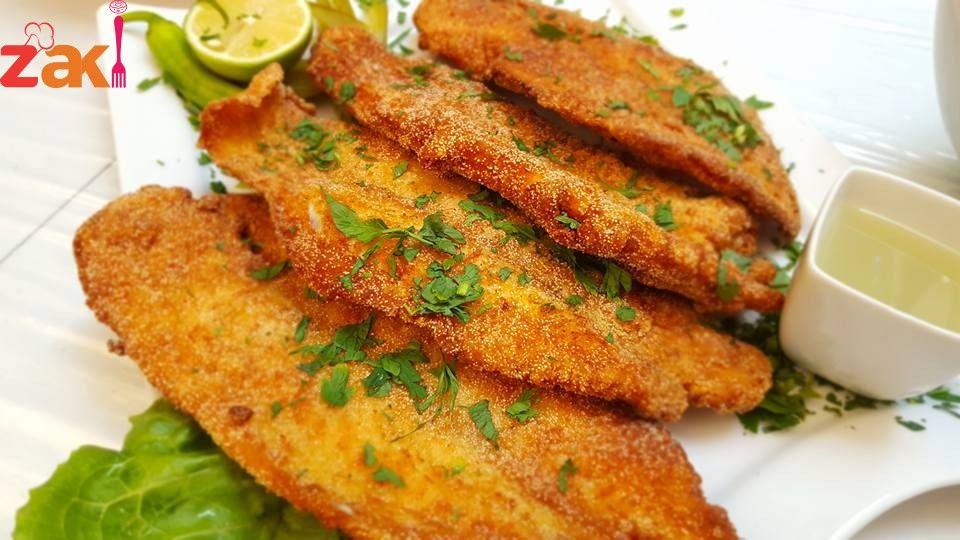 طريقة قلي السمك الفيليه بجنن كتيير زاكي Cooking Food Food And Drink