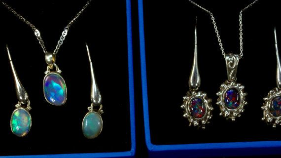 See VIDEO of 6 Sets of Opal Pendants/Earring sets to by AmyKJewels