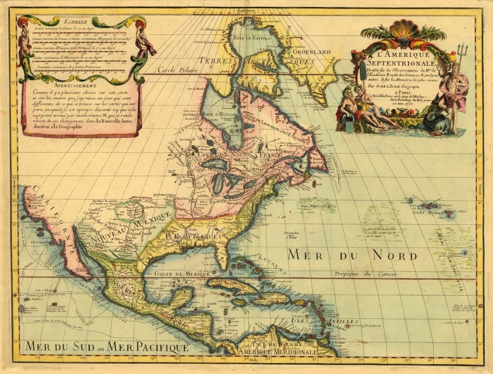 Map Of America In 1700.A Map Of North And Central America From 1700 Florida