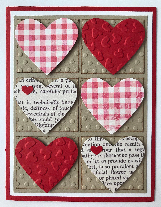 Handmade Valentine Card A2 Happy Valentine S Day Happy Etsy Valentines Cards Handmade Valentine Valentine Day Cards