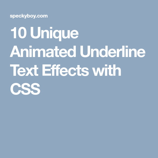 10 CSS Animated Underline Text Effect Snippets | Web Work