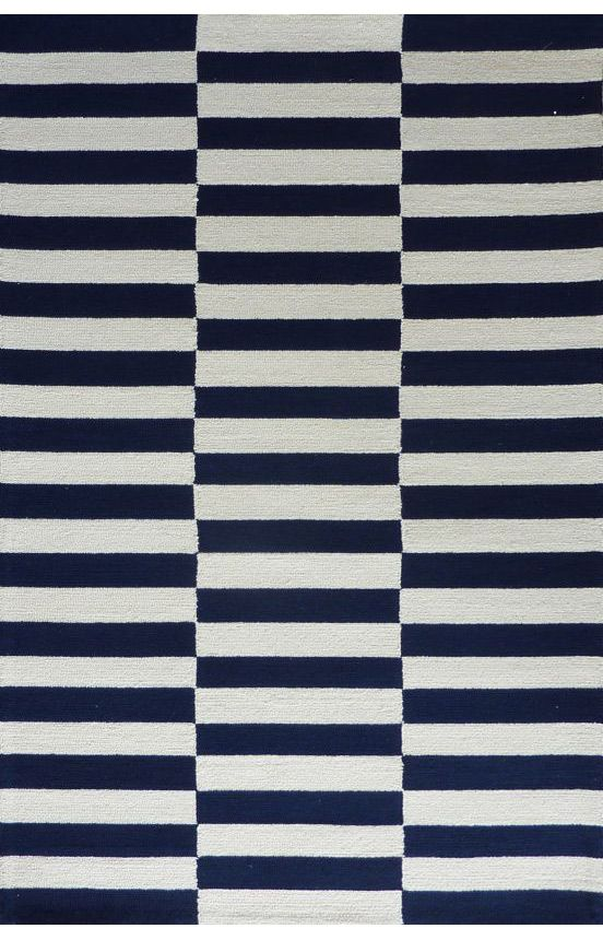 navy striped rug similar to ikea 39 s black and white and madeline weinrib rugs carpets rugs. Black Bedroom Furniture Sets. Home Design Ideas