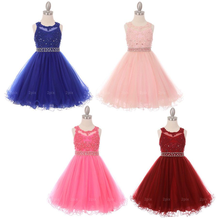 Girls formal occasion flower girls dresses graduation prom
