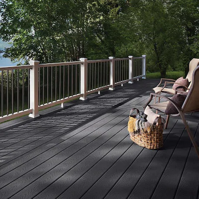 Trex Select 20 Ft Winchester Grey Grooved Composite Deck Board Lowes Com In 2020 Composite Decking Composite Decking Boards Trex Select