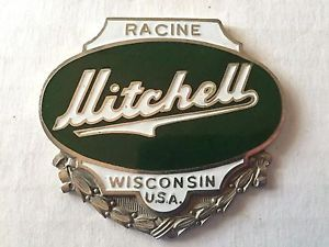 Vintage Mitchell Automobile Emblem Radiator Badge Ebay Badge Car Badges Emblems