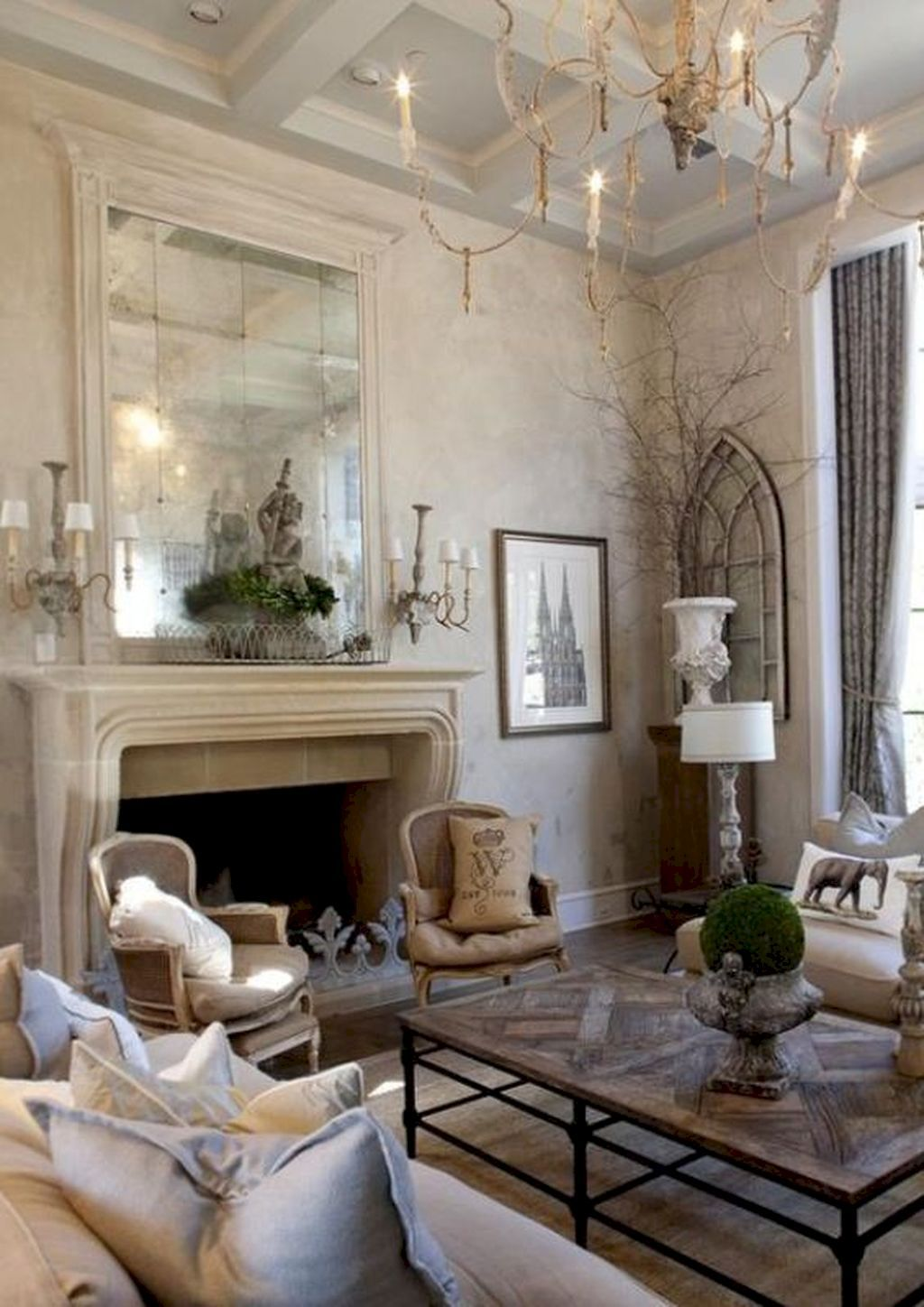 85 Fancy French Country Living Room Decor Ideas | French country ...