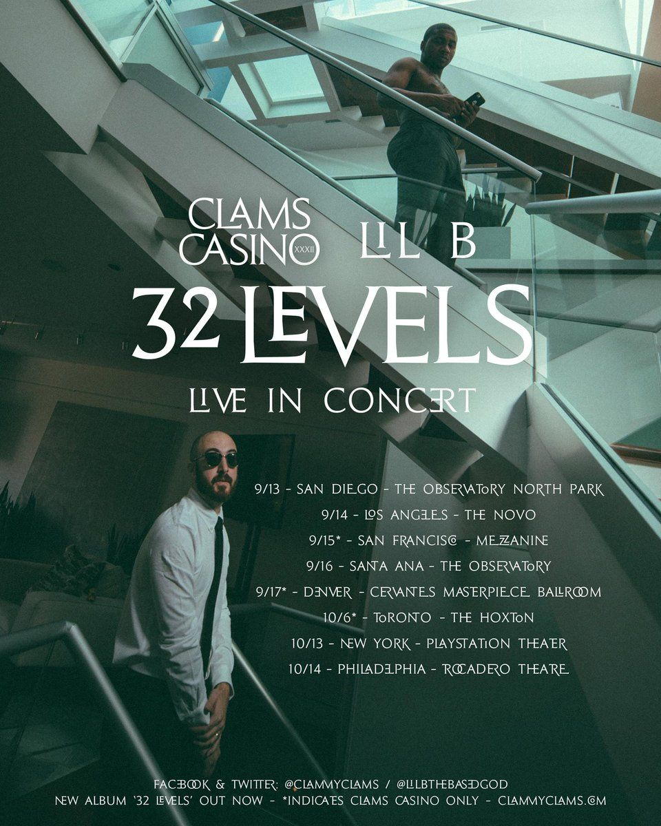 Clams Casino Tour