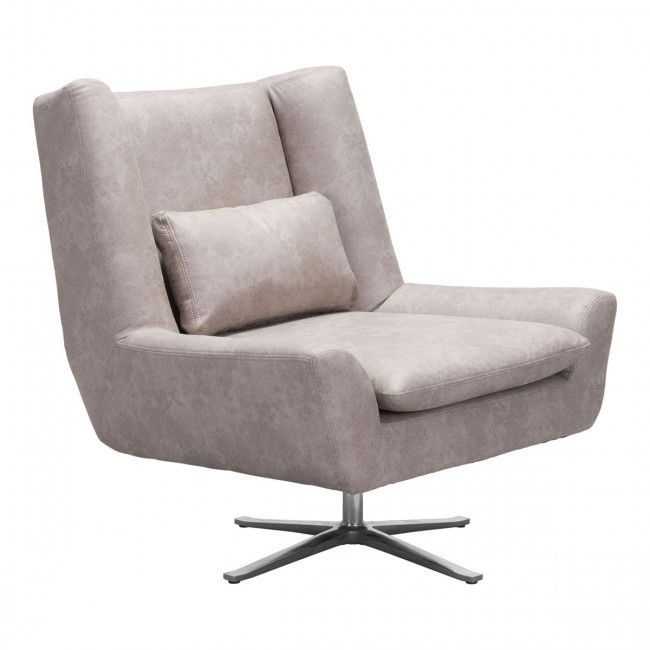101006 Enzo Occasional Chair Distressed Gray Grey