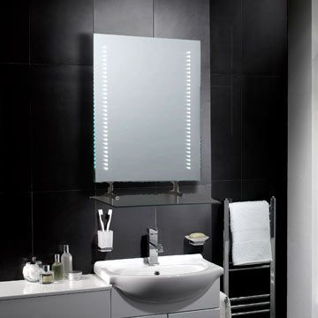 Belice LED mirror is a compact sophisticated mirror dispersing an ...