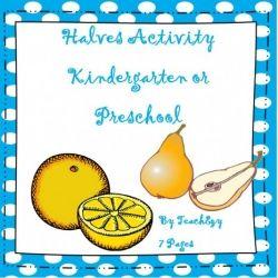 Halves Activity - Kindergarten