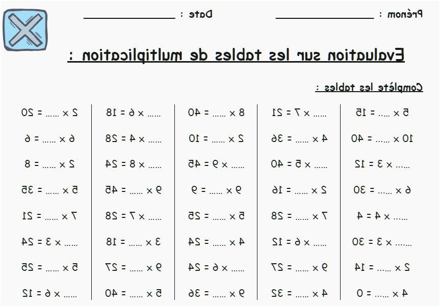 8 Attrayant Table De Multiplication Exercice Images Exercices Tables De Multiplication Multiplication Table De Multiplication