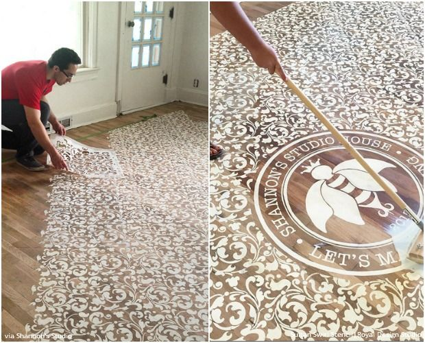 10 Stenciled Floor Makeovers Made For Walkin Stenciled