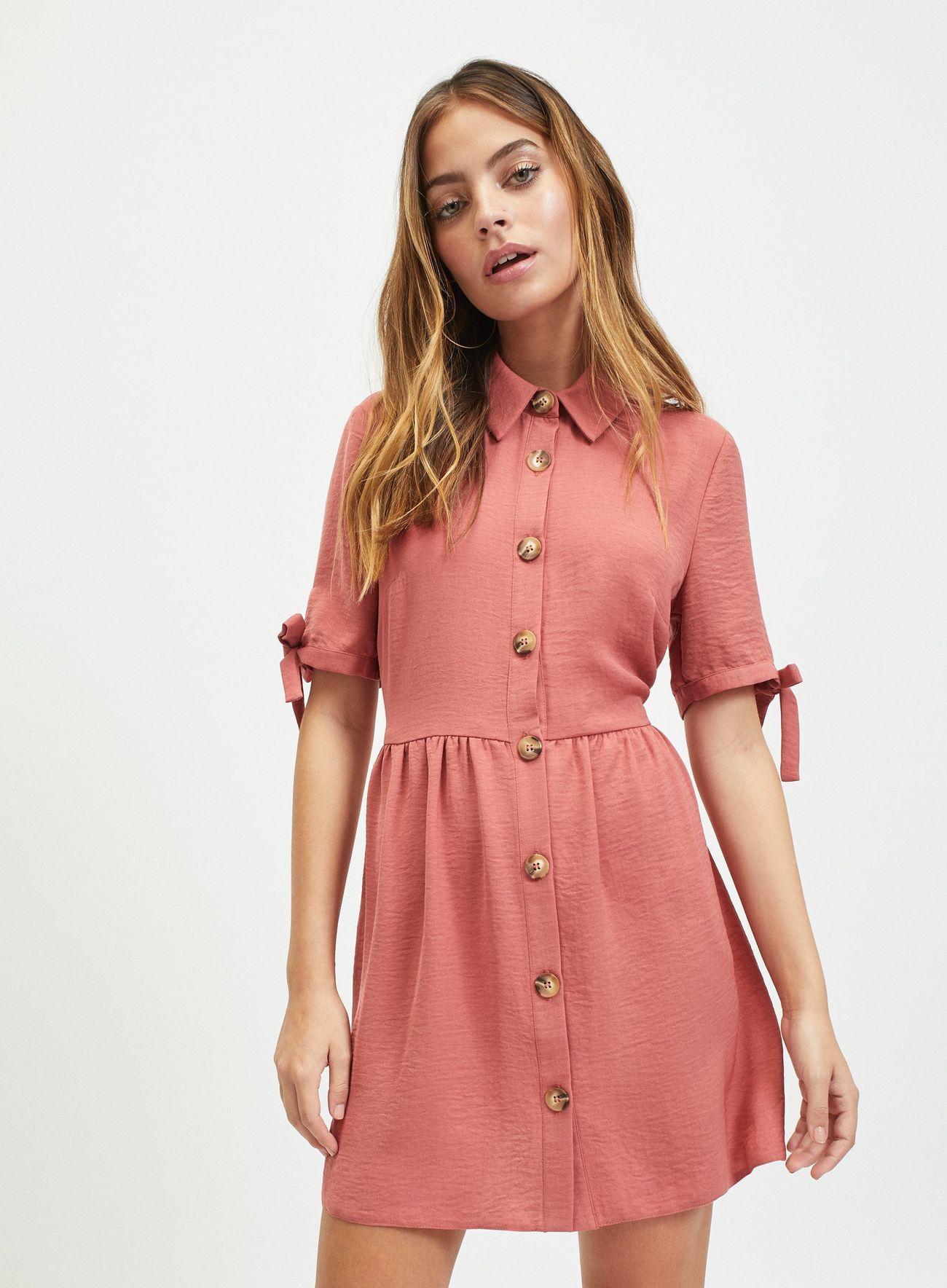 e0efb70c41810 PETITE Pink Shirt Dress in 2019 | Fashion | Shirt dress, Dresses ...