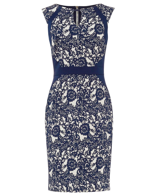 Phase Eight Annie Jacquard Dress Blue Dresses For Mum Dresses