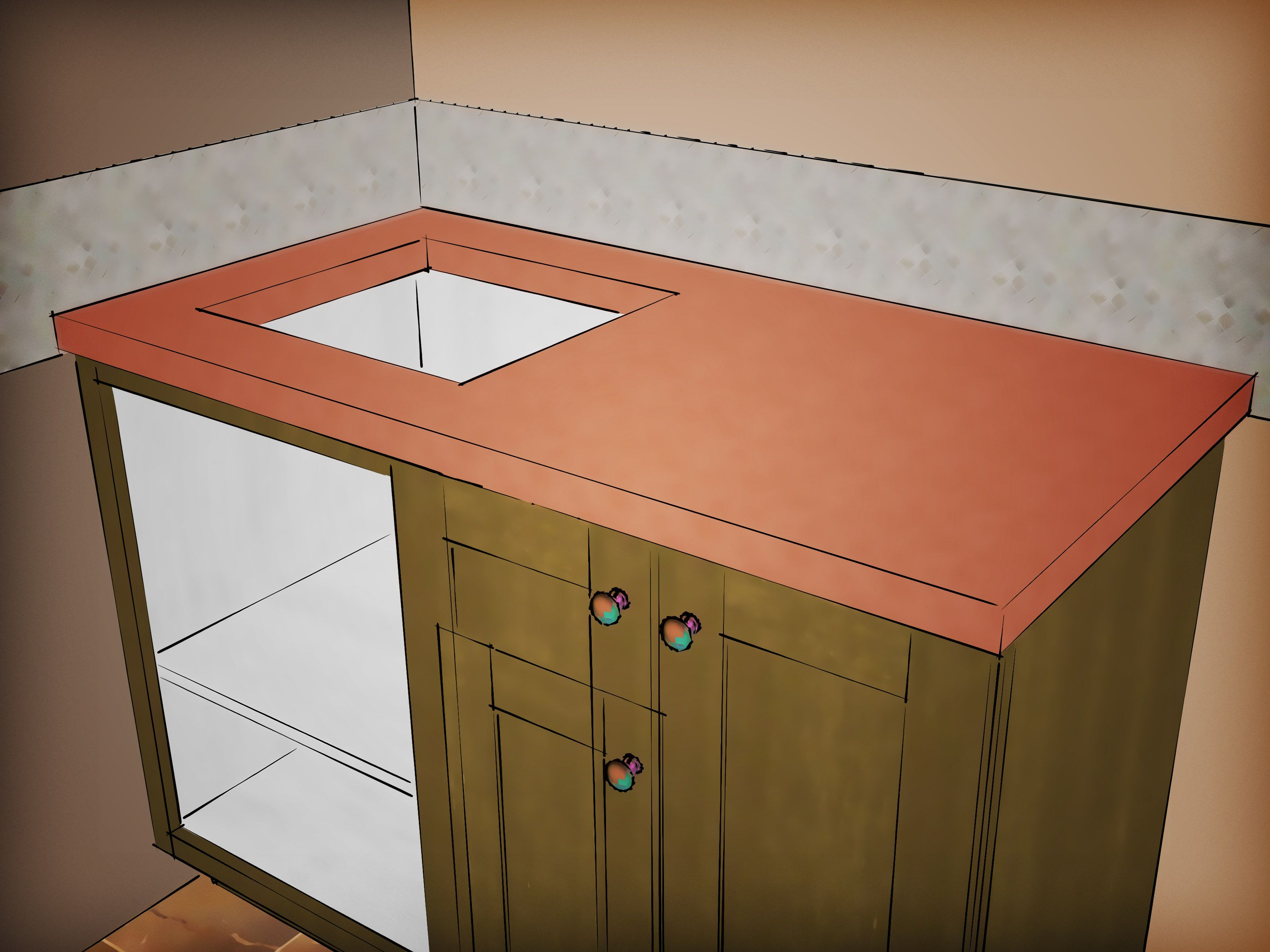 Making Your Own Countertops Allows You To Be Specific About The Look And Style It S Not All That Hard Do This Material Can Easily Last A