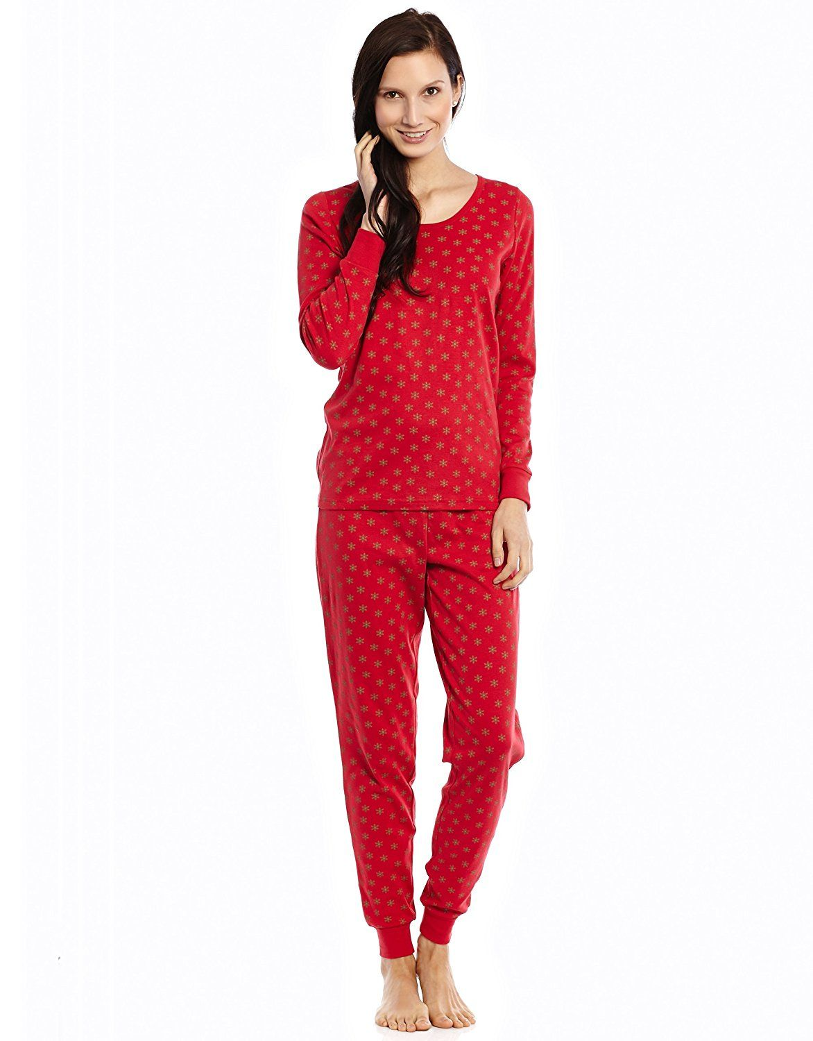 005cd75993 Leveret Women s  Christmas  Fitted 2 Piece Pajama 100% Cotton (Size XS-XL)      Click on the image for additional details.