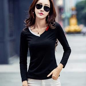 Poleras De Mujer Moda 2018 Black T Shirt Woman Womens Tops Fashion Tshirt Women Long Sleeve White T-Shirt Kawaii Vetement Femme
