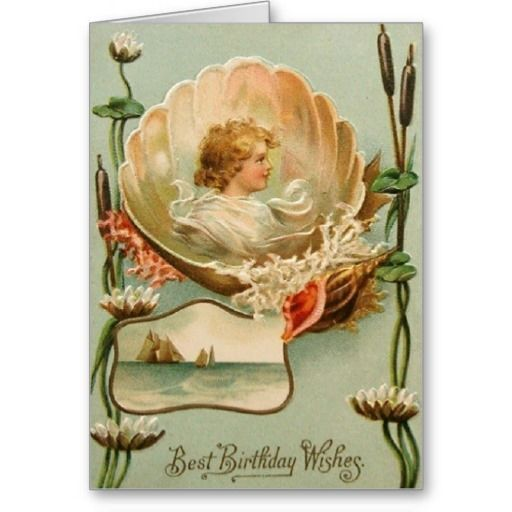 Victorian Birthday Greeting Card Vintage Postcards Vintage Birthday Cards Postcard