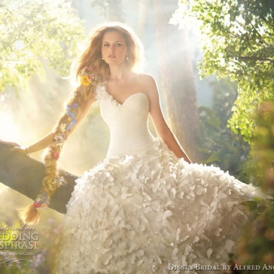 Pretty Wedding Dresses Fit For Modern Day Princesses From Disney Fairy Tale Weddings By Alfred Angelo 2017 Bridal Collection Above Rapunzel