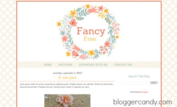 Fancy free a super cute blogger template with floral header fancy free a super cute blogger template with floral header made by me pronofoot35fo Gallery