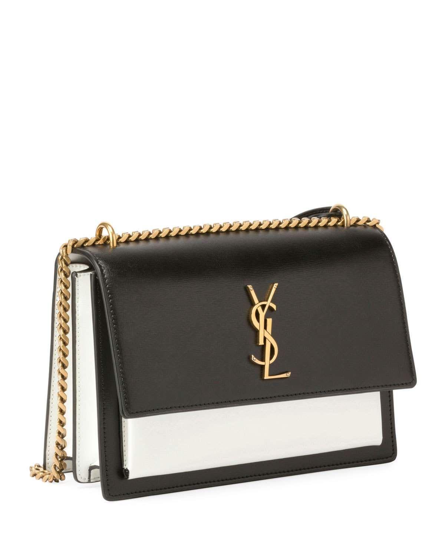 c3e6221750a Saint Laurent Sunset Medium Bicolor Chain Shoulder Bag | Products ...