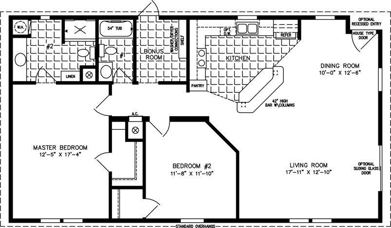 l shaped 1200 square foot 2 bedroom plans | Small house plans and ...