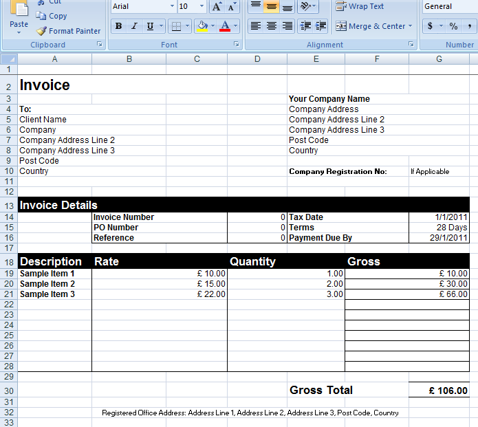 Generic Invoice Is Commonly Known To Be An Invoice Template And Is