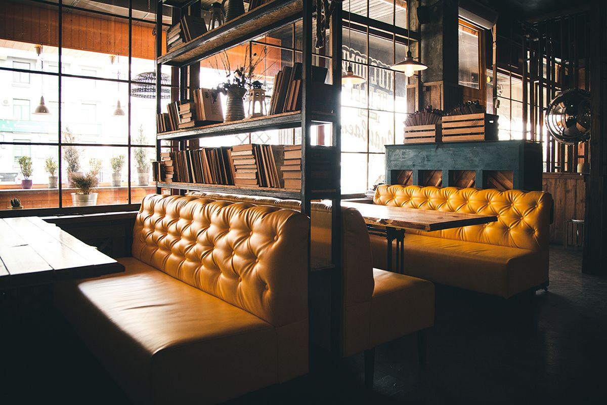 Restaurante Capitone Tapizado Cafetería Amarillo O Banco Para trxoCshdQB