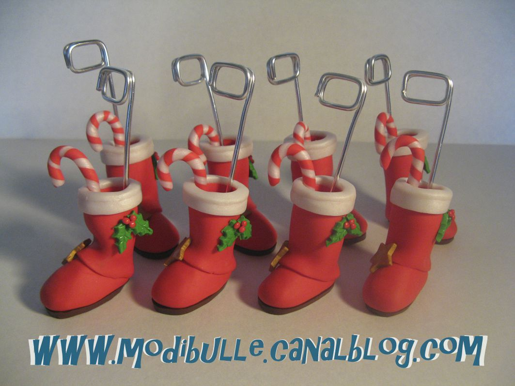 Porte nom bottes de no l noel pinterest fimo for Porte nom noel