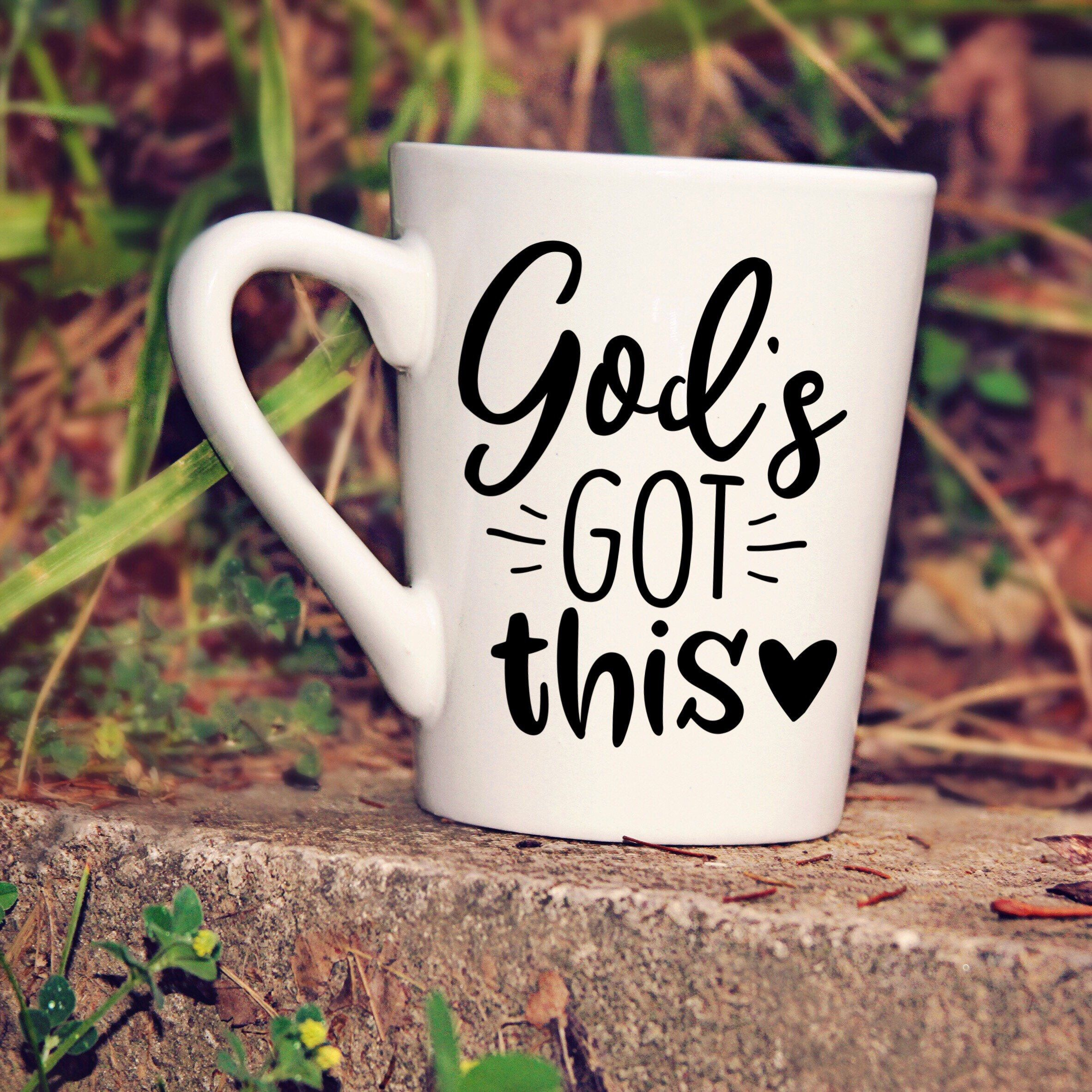 Decal God's got this Etsy Coffee decal, Nope funny