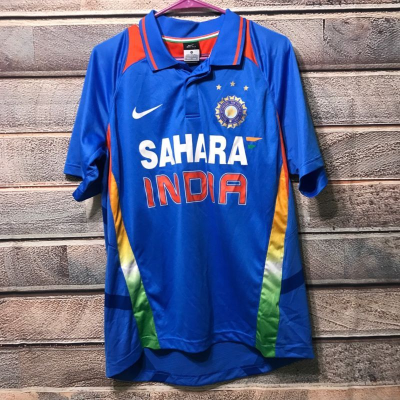 cbfda580a Nike Sahara India Cricket Jersey Xl Blue Shirt Soccer Polo Golf Football  Fit Dry