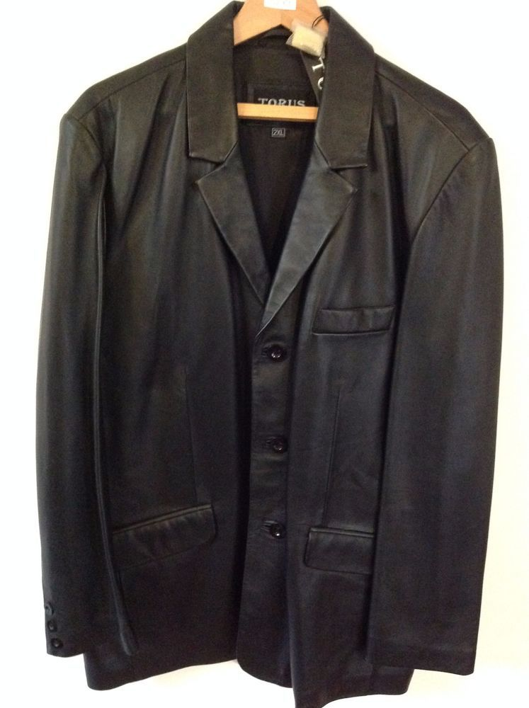 824e63c3a671e Find many great new & used options and get the best deals for Torus Mens  Black Leather Jacket 2XL BNWT at the best online prices at eBay!