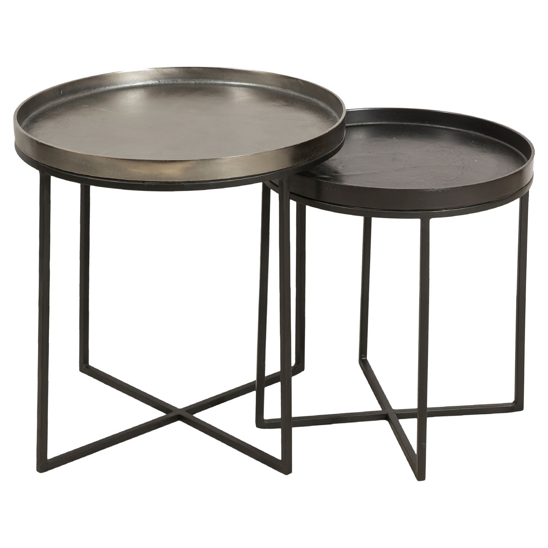 Renwil Conerick End Table Set Of 2 Coffee Table Metal Frame