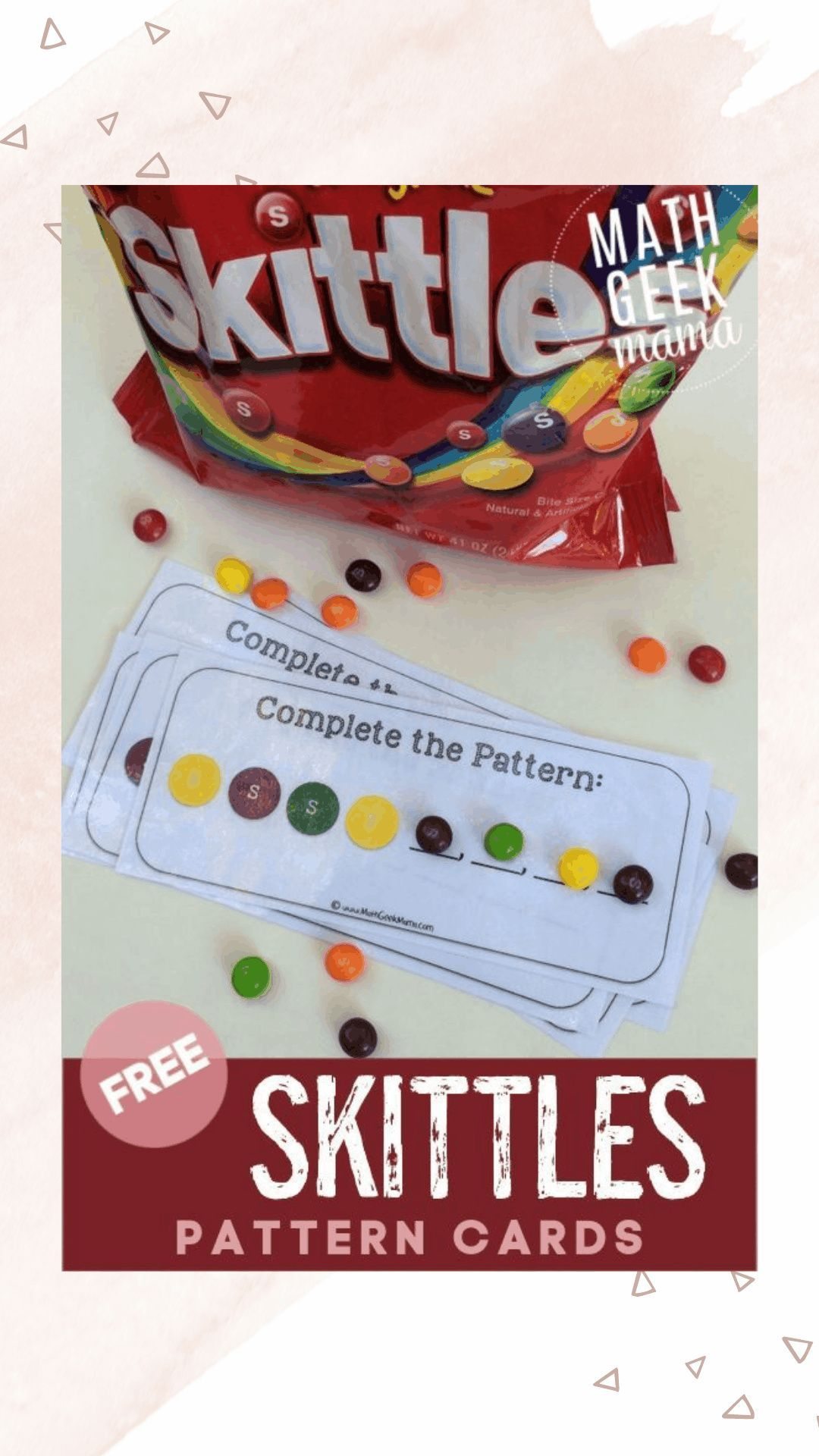 Creating Patterns With Skittles Free Printable In