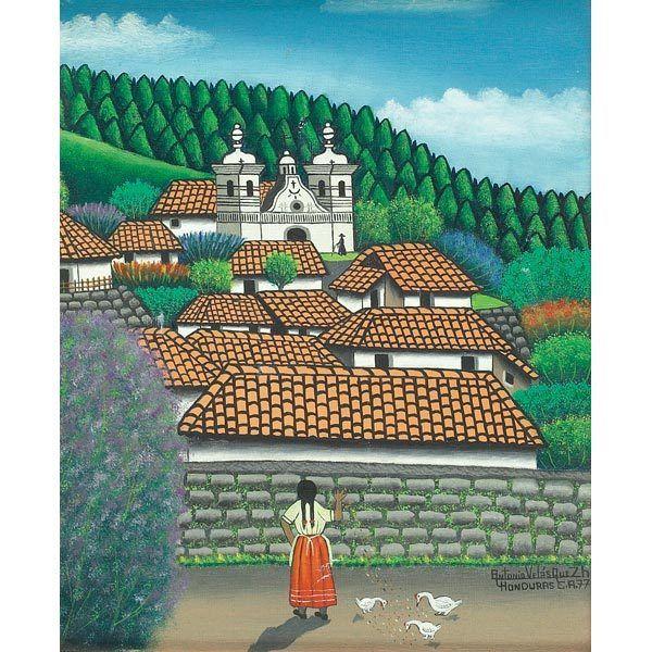 JOSE ANTONIO VELASQUEZ (Honduran, 1906-1985). | #1483668 |Jose Antonio Velasquez Paintings
