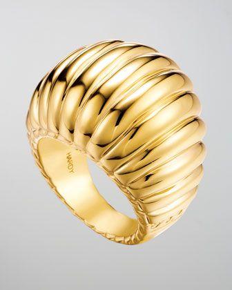 John Hardy Bedeg 18k Gold Dome Ring - Neiman Marcus
