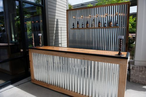 Banconi Per Ufficio Avs : Corrugated metal bar large and barn pinterest
