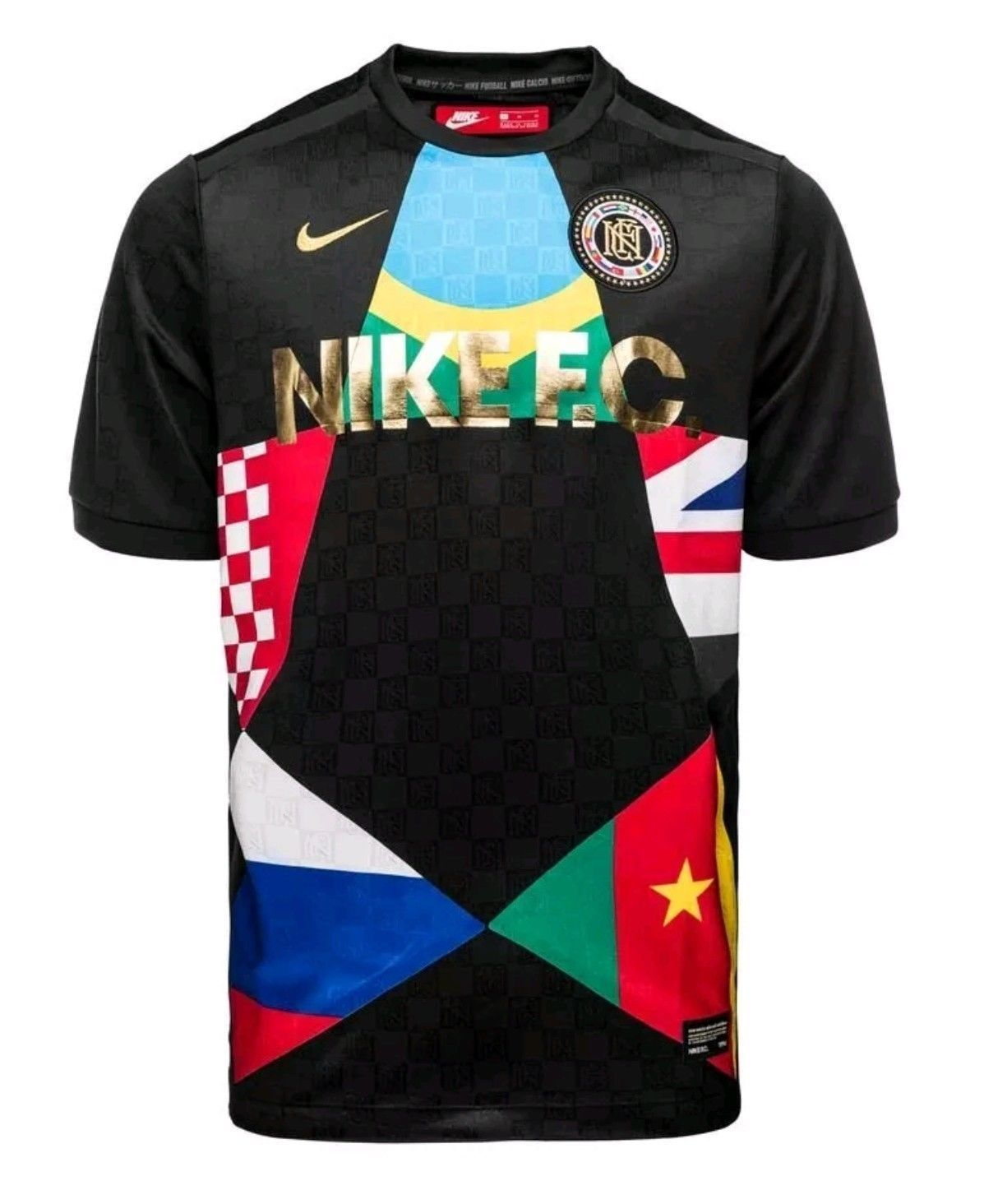 NIKE F.C. Football WORLD CUP 2018 SOCCER JERSEY BLACK MENS SZ Large 886872-014  Discount Price 79.95 Free Shipping Buy it Now e2a6cf3f4