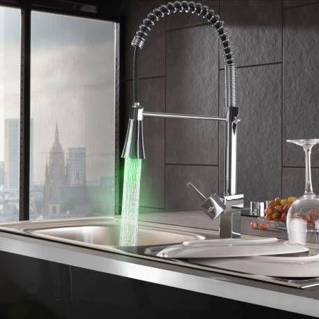 Wasserhahn mit LEDBeleuchtung & abnehmbarer Brause