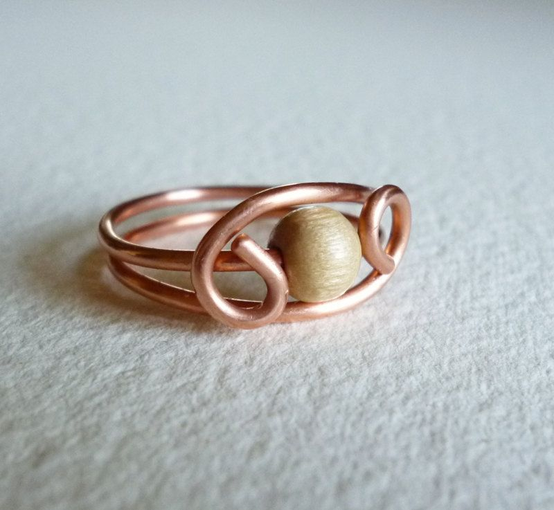 Copper Wire Ring | create | Pinterest | Copper wire, Ring and Pearls