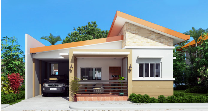Pin By Home Design On Home Design One Storey House Modern Bungalow House Simple House Plans