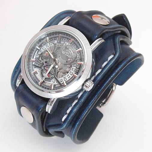 5560341c2 Pánske hodinky, modrý kožený remienok s venovaním / leon v roku 2019 ...
