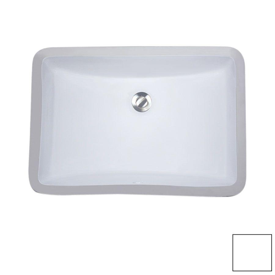 Lowes 20 X 14 Nantucket White Undermount Rectangular Bathroom Sink With Overflow 119 00 Rectangular Sink Bathroom Bathroom Sink Sink