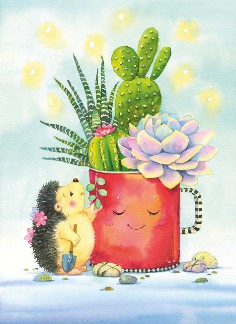 картинки ежиков с кактусами позволяет нам утверждать